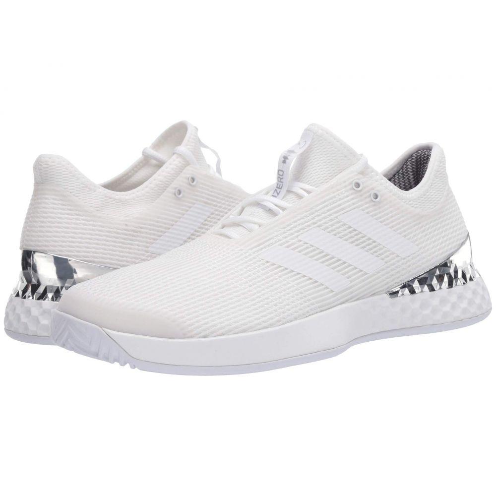 アディダス メンズ テニス シューズ・靴 Footwear White/Footwear White/Silver Metallic 【サイズ交換無料】 アディダス adidas メンズ テニス シューズ・靴【Adizero Ubersonic 3】Footwear White/Footwear White/Silver Metallic