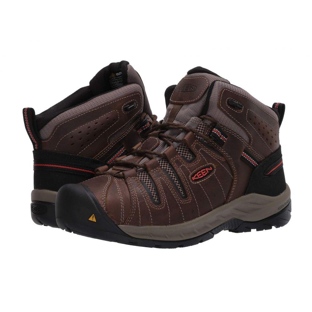 キーン Keen Utility メンズ スニーカー シューズ・靴【Flint II Mid Soft Toe】Cascade Brown/Burnt Ochre