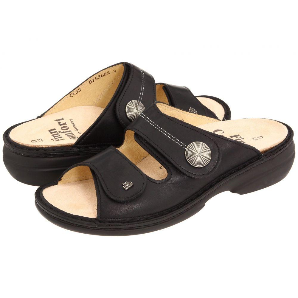 フィンコンフォート Finn Comfort レディース サンダル・ミュール シューズ・靴【Sansibar - 82550】Black Nappa Leather