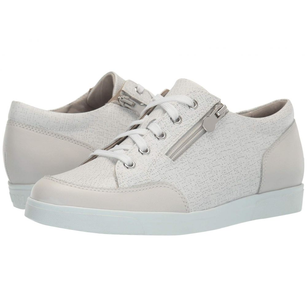マンロー Munro レディース スニーカー シューズ・靴【Gabbie】White Stringray/White Leather