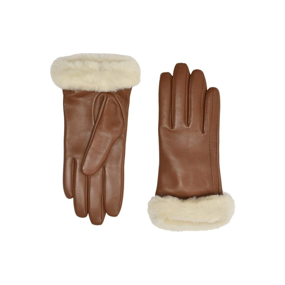 アグ UGG レディース 手袋・グローブ 【Classic Leather Shorty Tech Gloves】Chestnut