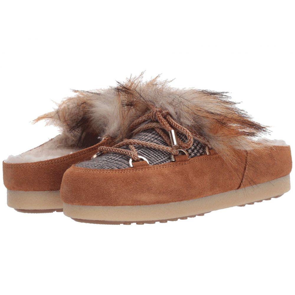 ムーンブーツ MOON BOOT レディース ローファー・オックスフォード シューズ・靴【Moon Boot Far Side Sabot Faux Fur】Whiskey