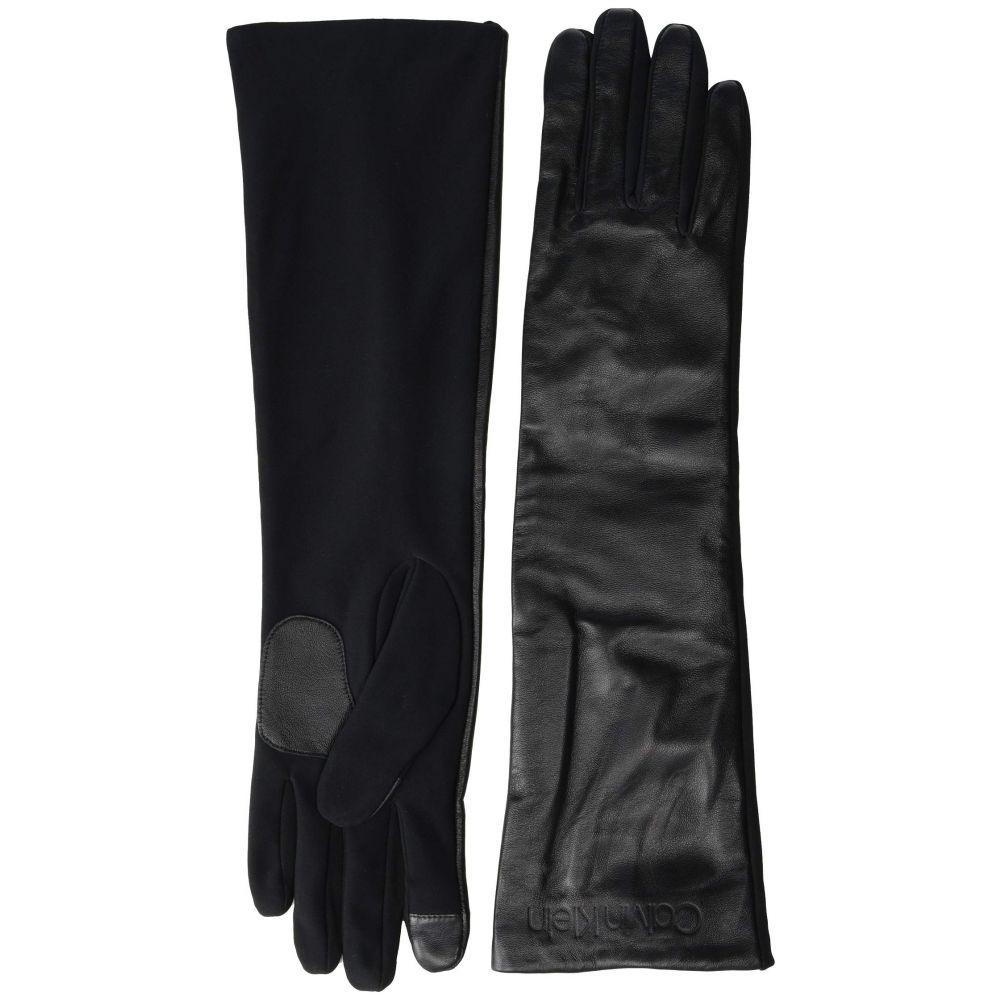 カルバンクライン Calvin Klein レディース 手袋・グローブ 【Long Leather Touch Gloves】Black