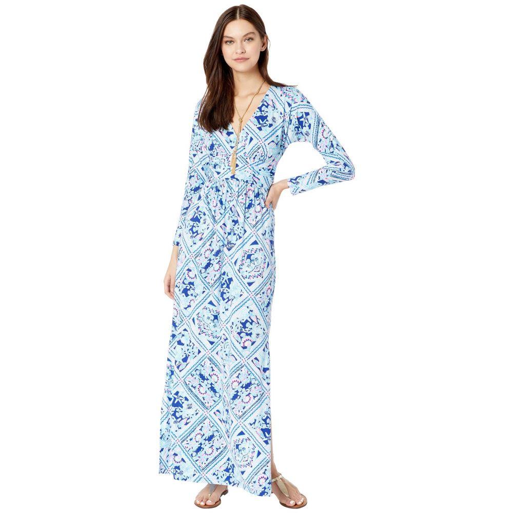 リリーピュリッツァー Lilly Pulitzer レディース ワンピース マキシ丈 ワンピース・ドレス【Nichola Maxi Dress】Zanzibar Blue Meet Me On The Dock