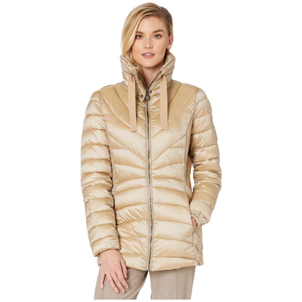 ベルナルド ファッションズ Bernardo Fashions レディース ジャケット アウター【EcoPlume Lust Fabric Fitted Packable Jacket】Quartz Beige