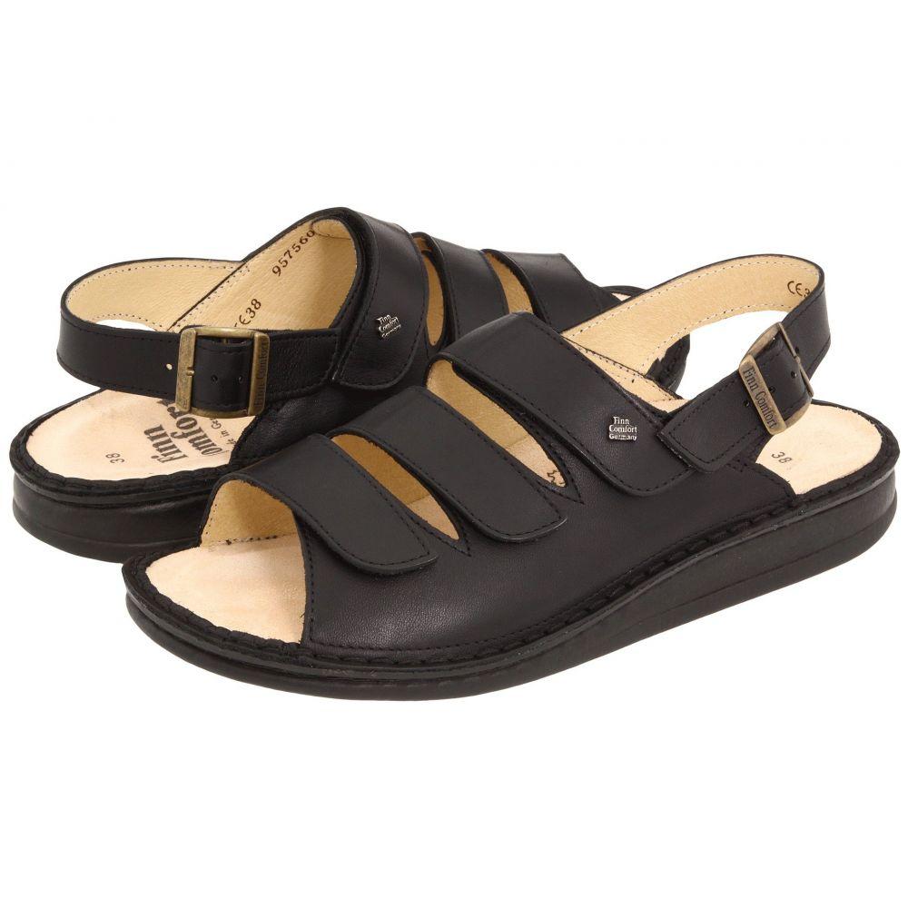 フィンコンフォート Finn Comfort レディース サンダル・ミュール シューズ・靴【Sylt - 82509】Black Nappa Soft Footbed