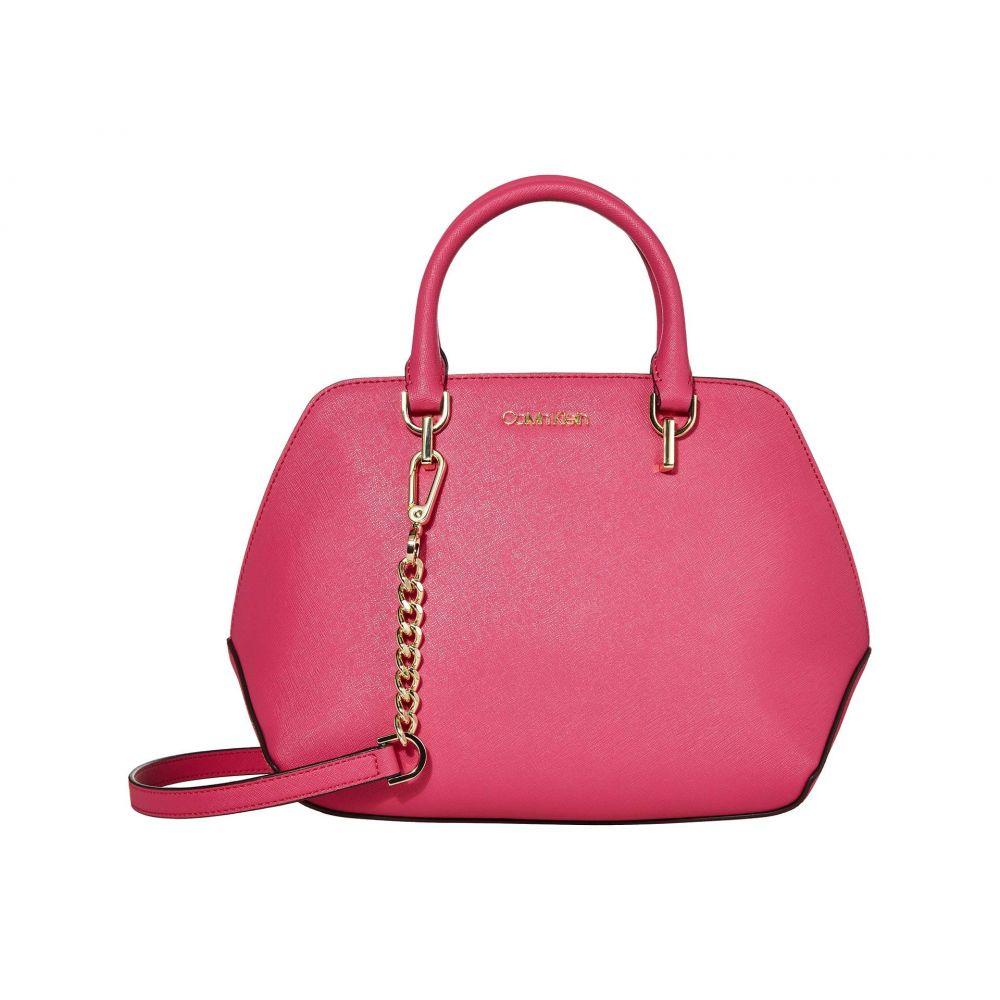 カルバンクライン Calvin Klein レディース ハンドバッグ サッチェルバッグ バッグ【Hayden Saffiano Leather Triple Compartment Satchel】Punch