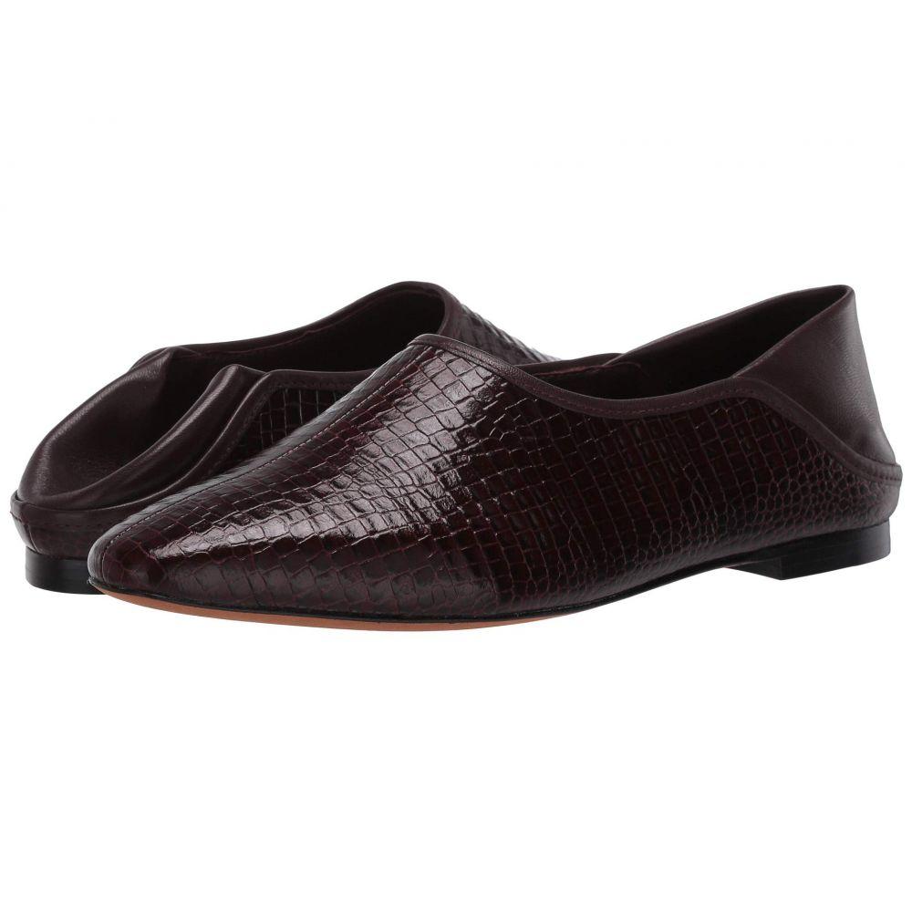 ヴィンス Vince レディース ローファー・オックスフォード シューズ・靴【Branine】Dahlia Wine Croc Leather