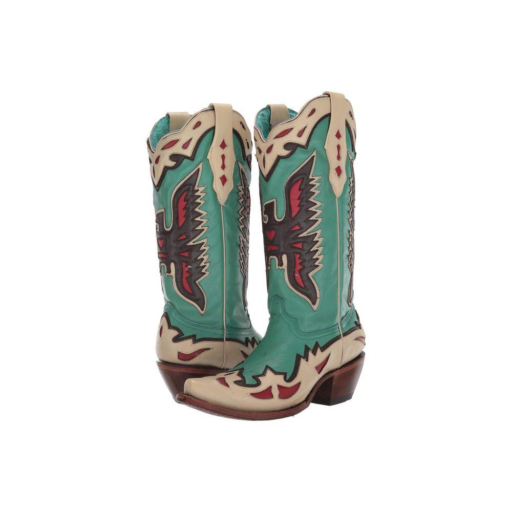 コラル Corral Boots レディース ブーツ シューズ・靴【A3779】Turquoise