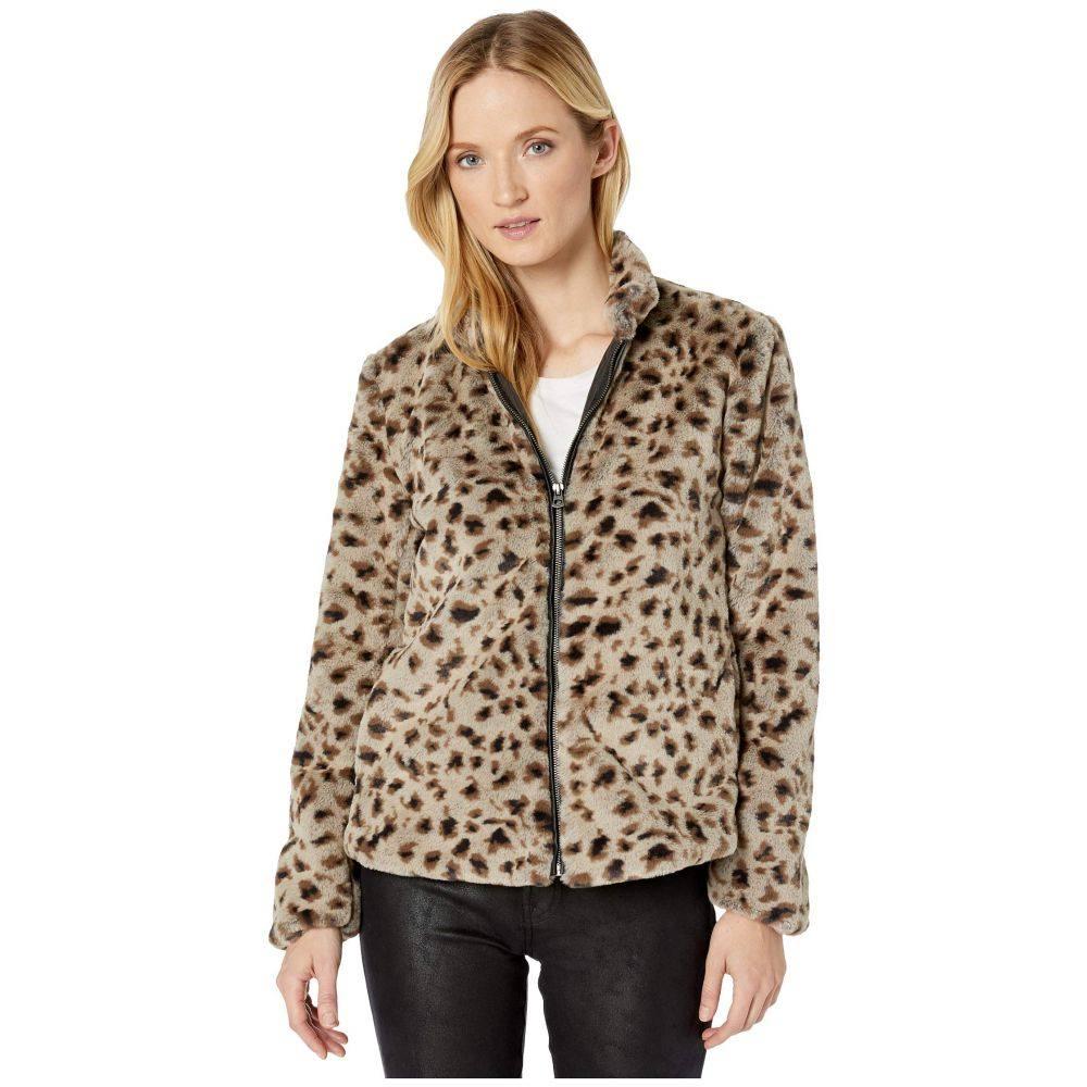 デイランバイトゥルーグリット Dylan by True Grit レディース ジャケット アウター【Leopard Faux Fur Mock Zip Jacket】Soft Brown