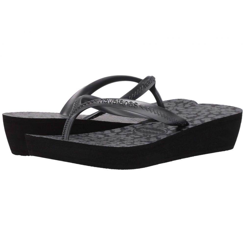 ハワイアナス Havaianas レディース ビーチサンダル シューズ・靴【High Light II Flip Flops】Black/Graphite