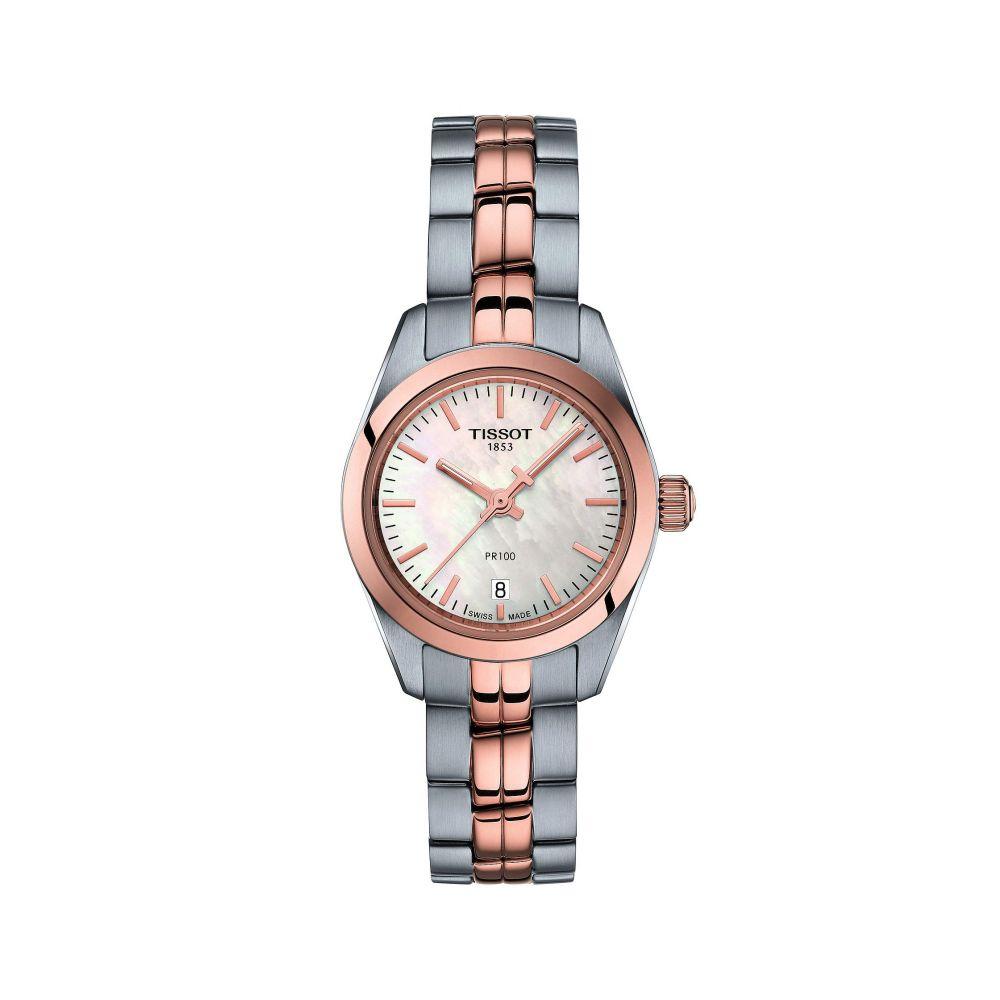 ティソ Tissot レディース 腕時計 【PR 100 Small - T1010102211101】Rose Gold/Silver