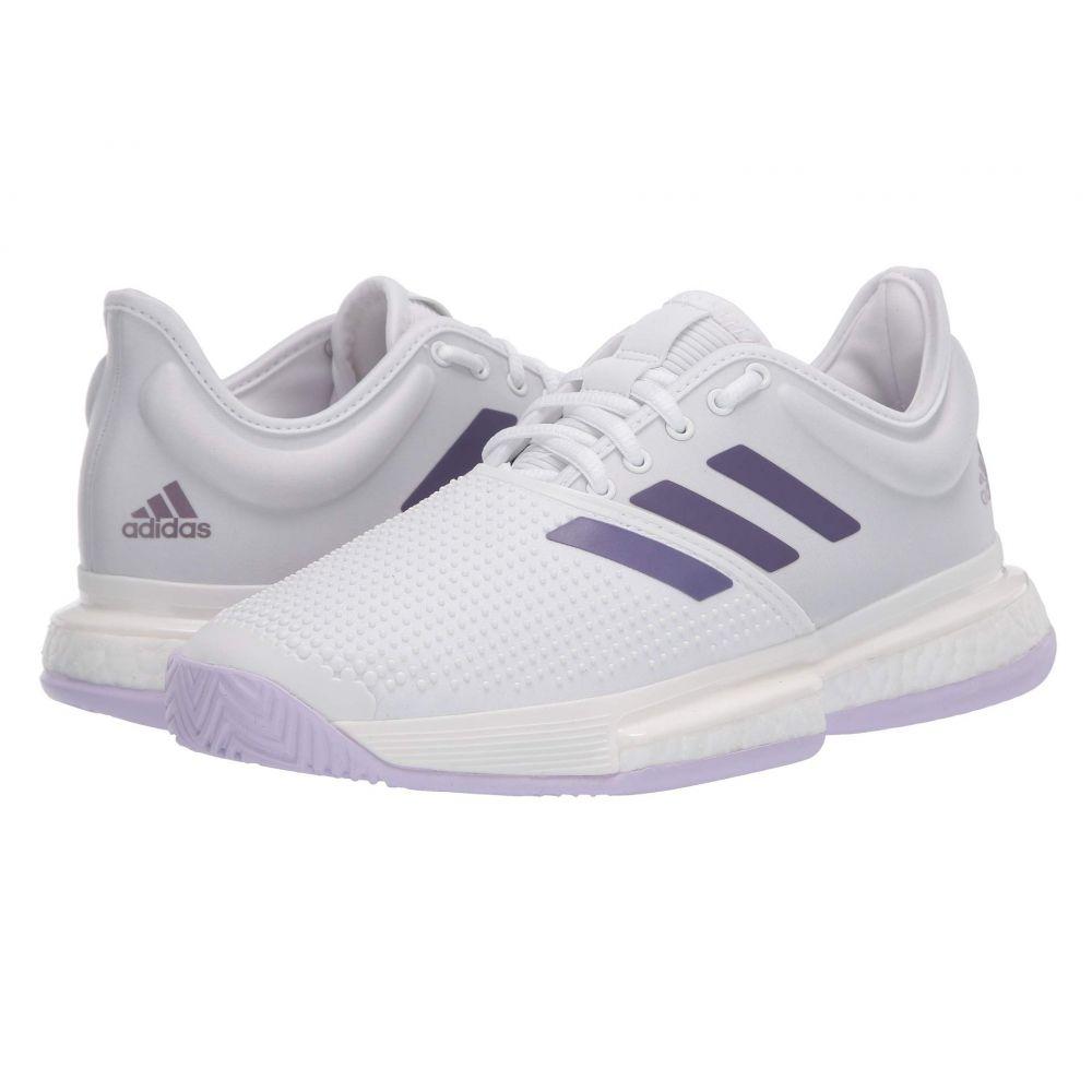 アディダス adidas レディース テニス シューズ・靴【SoleCourt】Footwear White/Tech Purple/Legacy Purple