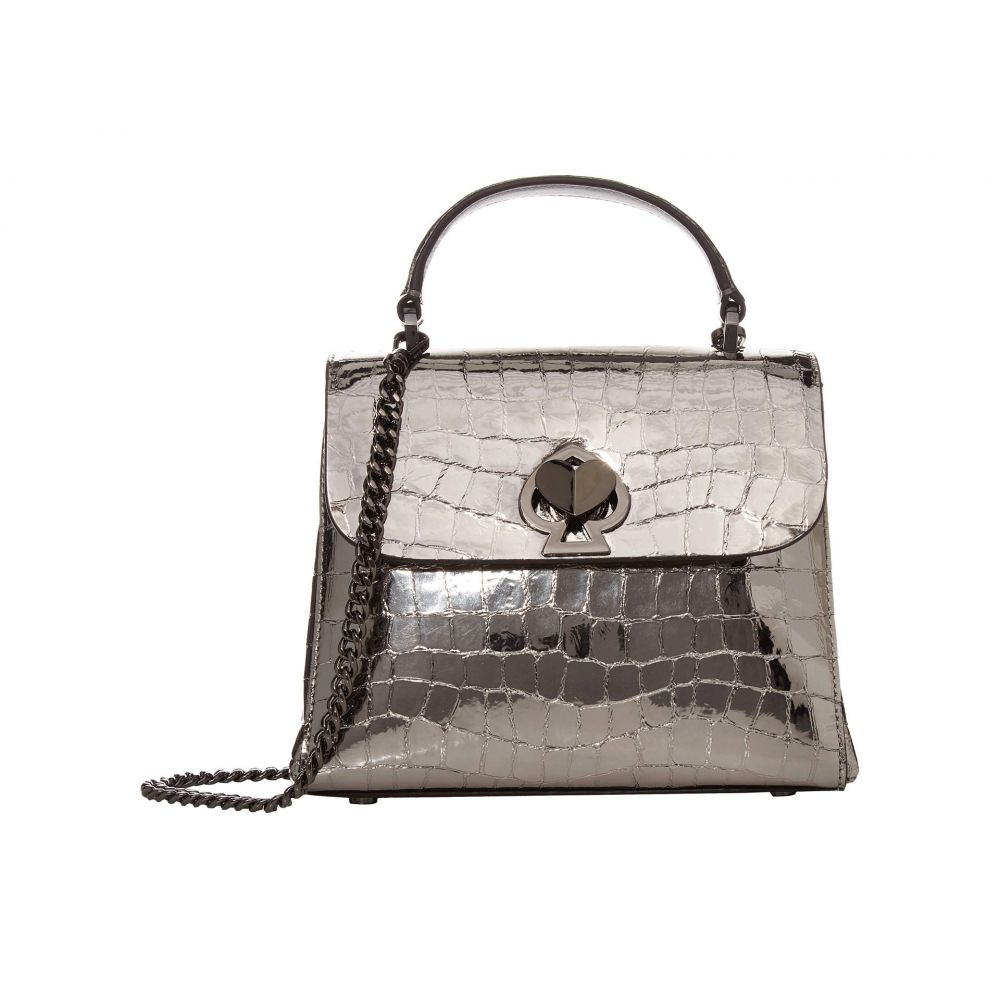 ケイト スペード Kate Spade New York レディース ハンドバッグ バッグ【Romy Metallic Croc Embossed Mini Top-Handle】Gunmetal