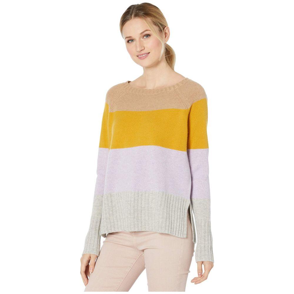 エリオットローレン Elliott Lauren レディース ニット・セーター トップス【100% Cashmere Color Block Crew Neck Sweater】Violet Multi