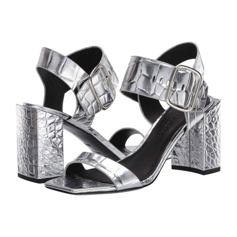 シガーソン モリソン Sigerson Morrison レディース サンダル・ミュール シューズ・靴【Carmel】Silver Croc Print Leather