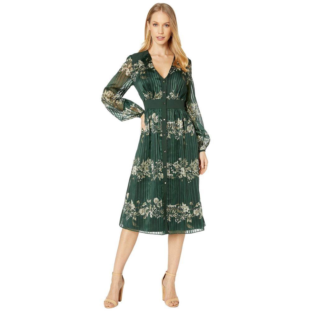 テッドベーカー Ted Baker レディース ワンピース ミドル丈 ワンピース・ドレス【Delyla Meadowsweet Long Sleeve Midi Dress】Dark Green