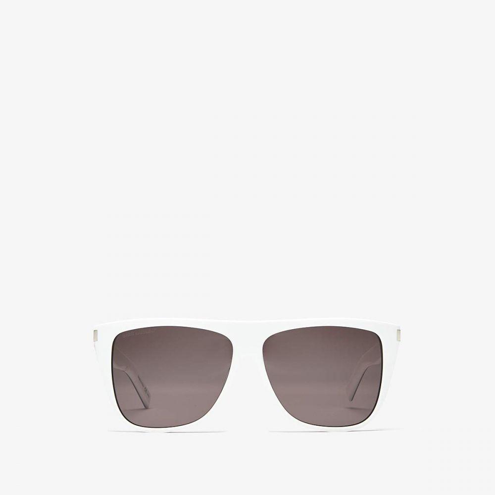 イヴ サンローラン Saint Laurent レディース メガネ・サングラス 【SL 1】Shiny Bilayer White/Black/Solid Grey