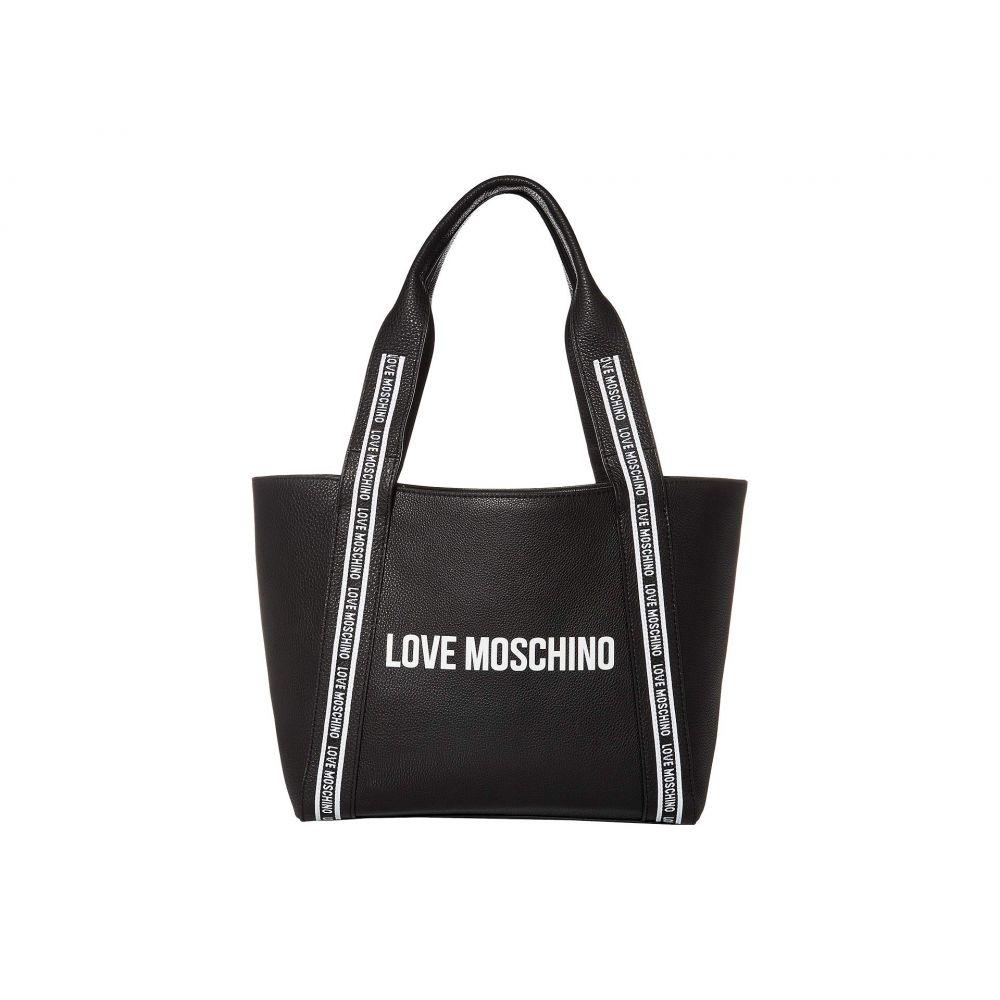モスキーノ LOVE Moschino レディース トートバッグ バッグ【Taped Logo Tote Bag】Black