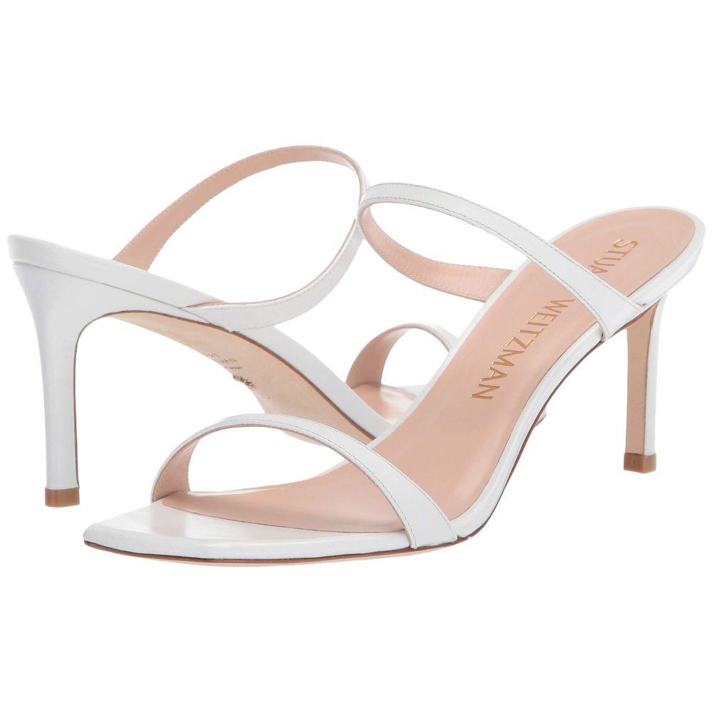 スチュアート ワイツマン Stuart Weitzman レディース サンダル・ミュール シューズ・靴【Aleena 75】White Smooth Calf