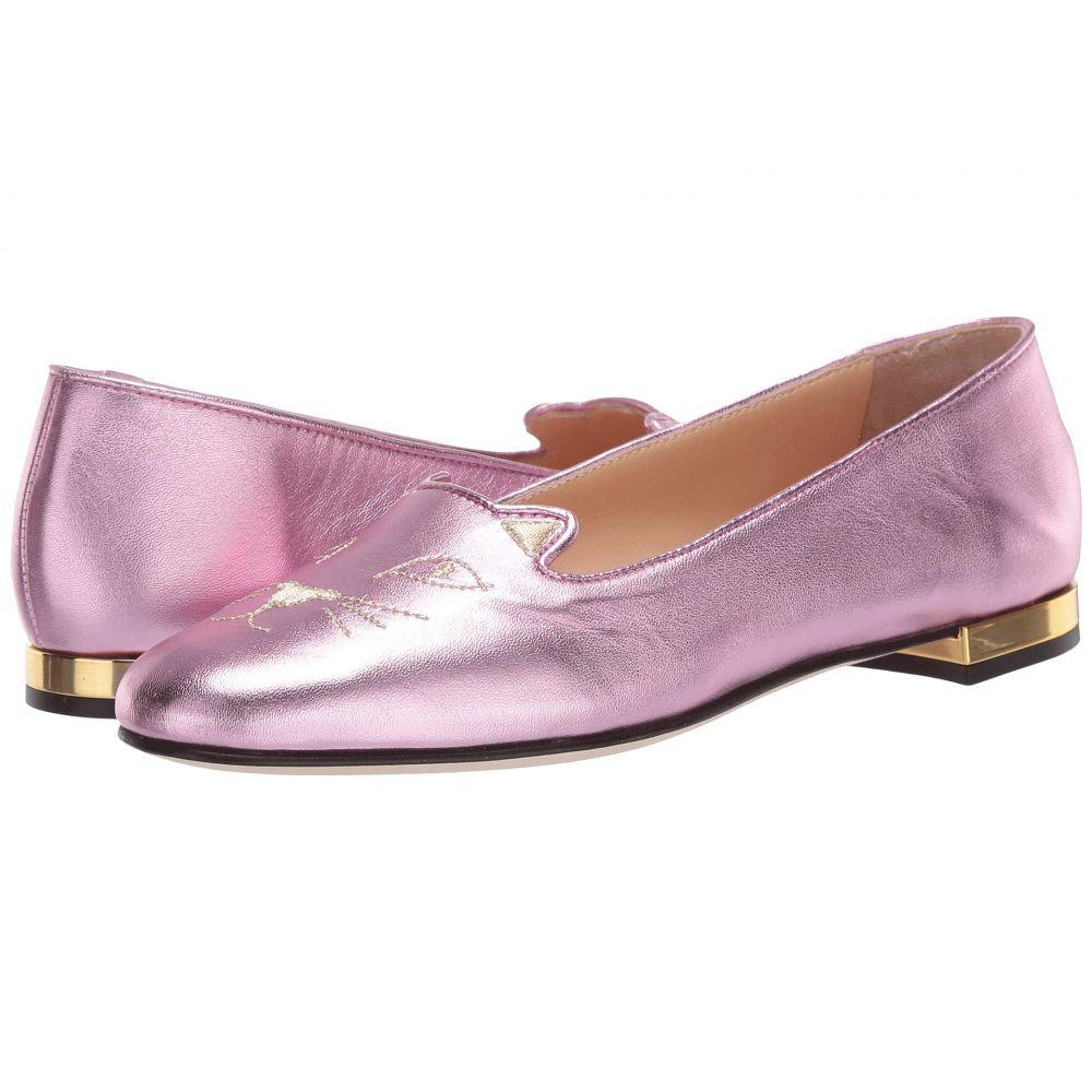 シャーロット オリンピア Charlotte Olympia レディース スリッポン・フラット シューズ・靴【Soft Kitty Flats】Pink