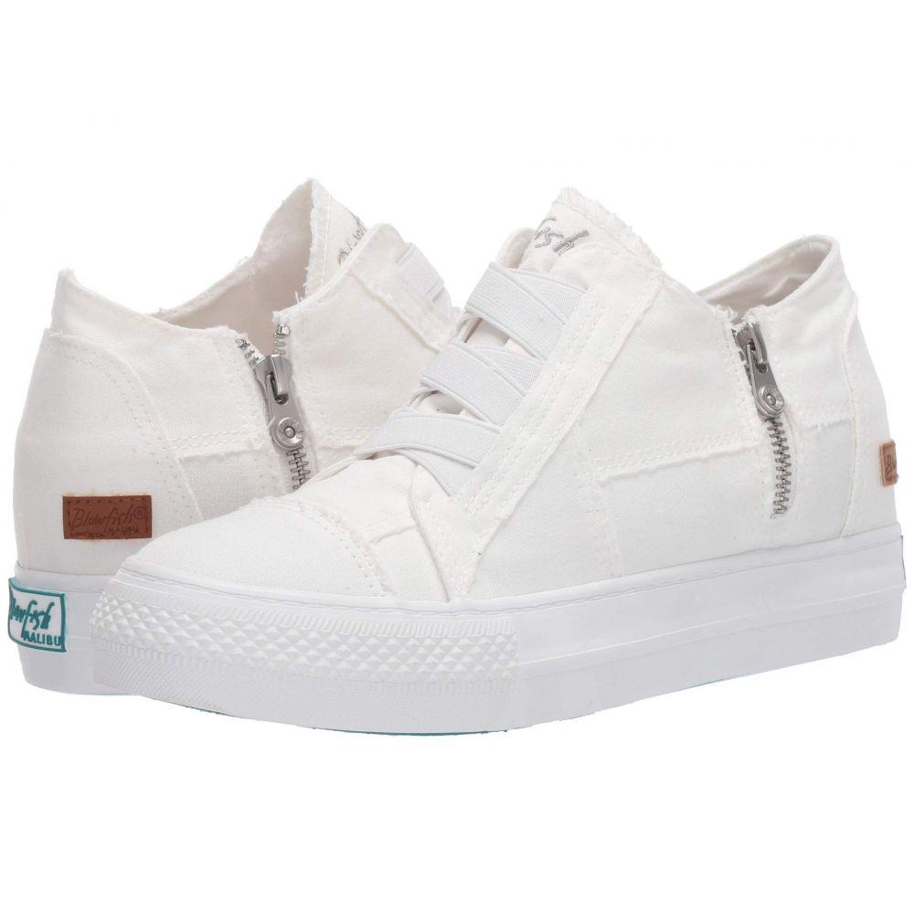 ブローフィッシュ Blowfish レディース スニーカー シューズ・靴【Mamba】White Color Washed Canvas
