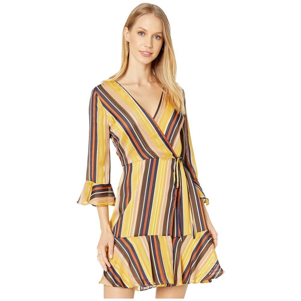 ミス ミー Miss Me レディース ワンピース ラップドレス ワンピース・ドレス【Striped Wrap Dress】Multi Yellow