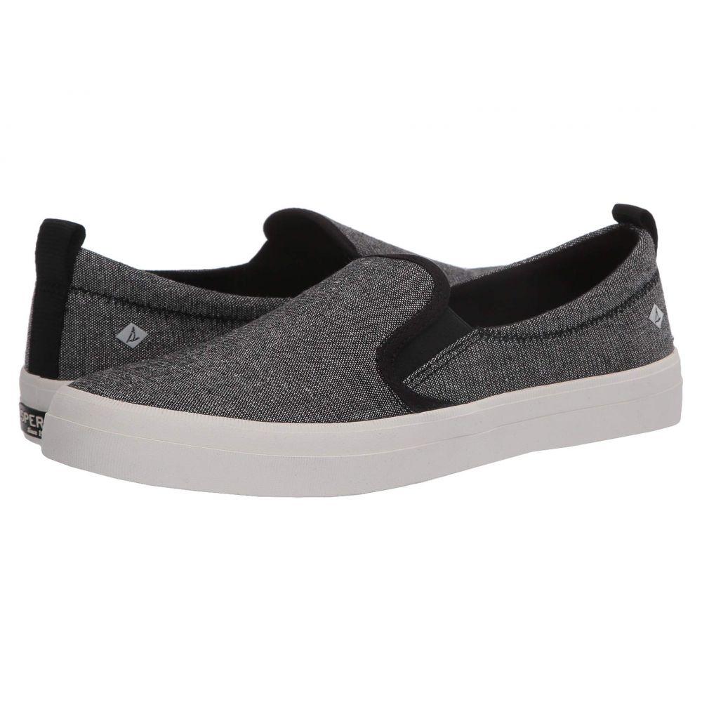 スペリー Sperry レディース スニーカー シューズ・靴【Crest Twin Gore Sparkle Linen Sneaker】Black