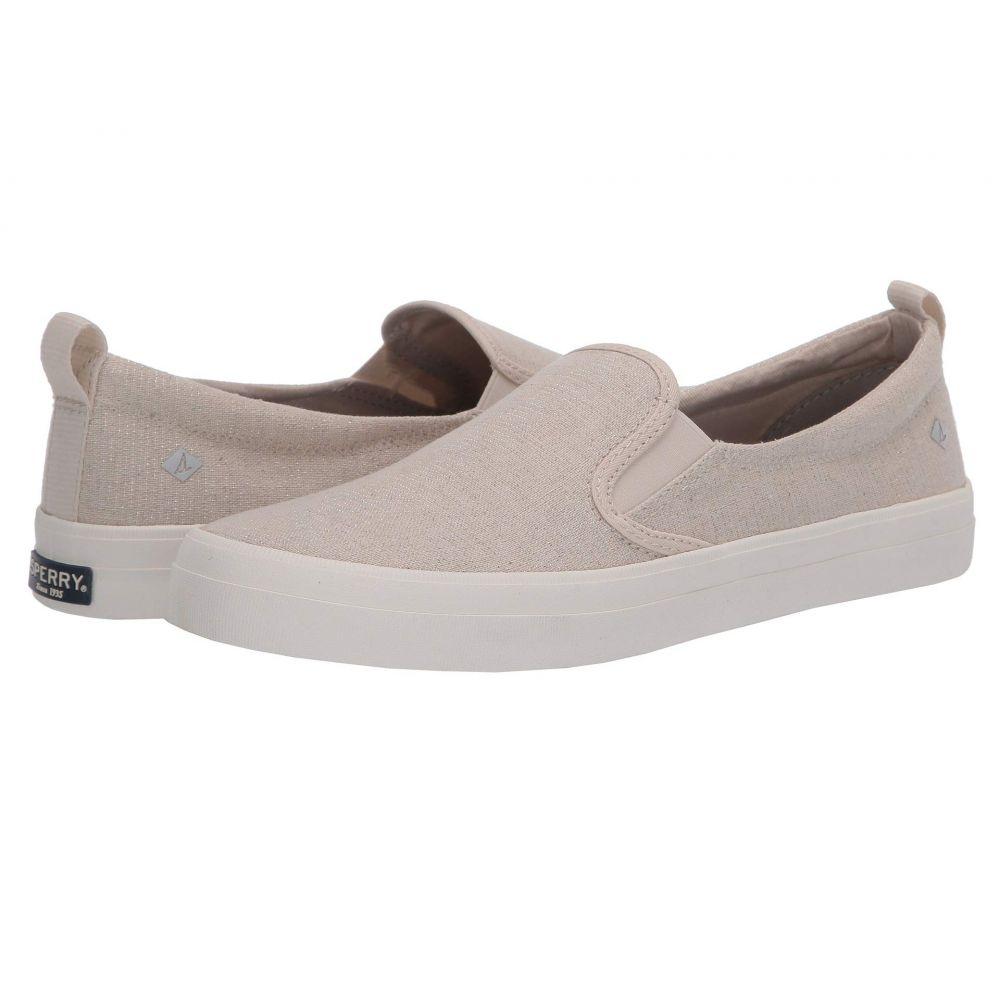 スペリー Sperry レディース スニーカー シューズ・靴【Crest Twin Gore Sparkle Linen Sneaker】Oat