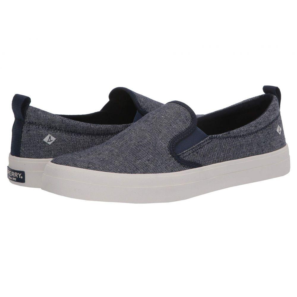 スペリー Sperry レディース スニーカー シューズ・靴【Crest Twin Gore Sparkle Linen Sneaker】Navy