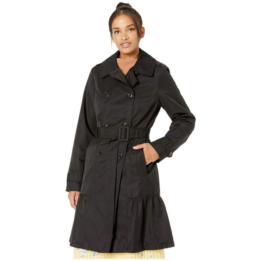 ケイト スペード Kate Spade New York レディース コート アウター【Cotton Blend Trench Coat with Waist Tie】Black