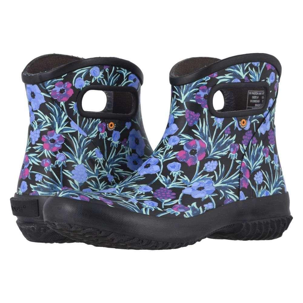 ボグス Bogs レディース ブーツ ショートブーツ シューズ・靴【Patch Ankle Boot Vine Floral】Black Multi