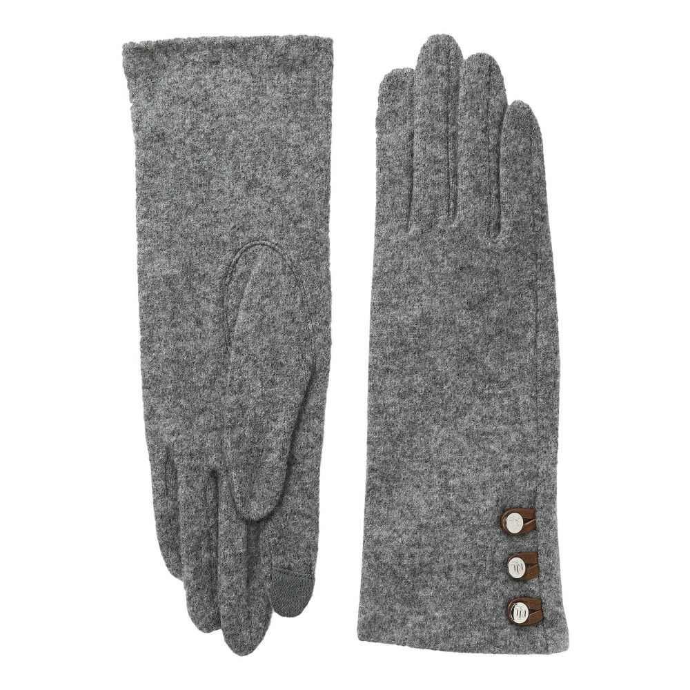 ラルフ ローレン LAUREN Ralph Lauren レディース 手袋・グローブ 【Three-Button Touch Gloves】Grey Heather