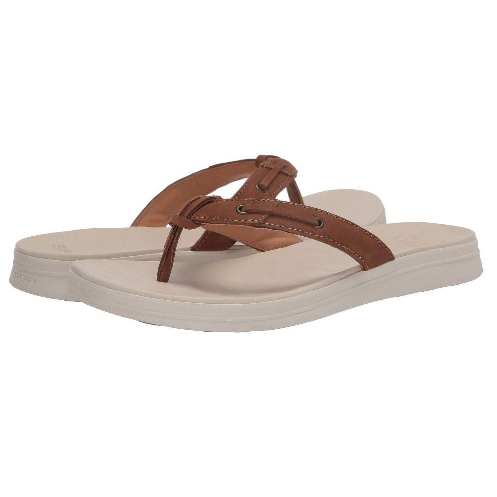 スペリー Sperry レディース ビーチサンダル シューズ・靴【Adriatic Thong Skip Lace Leather】Tan