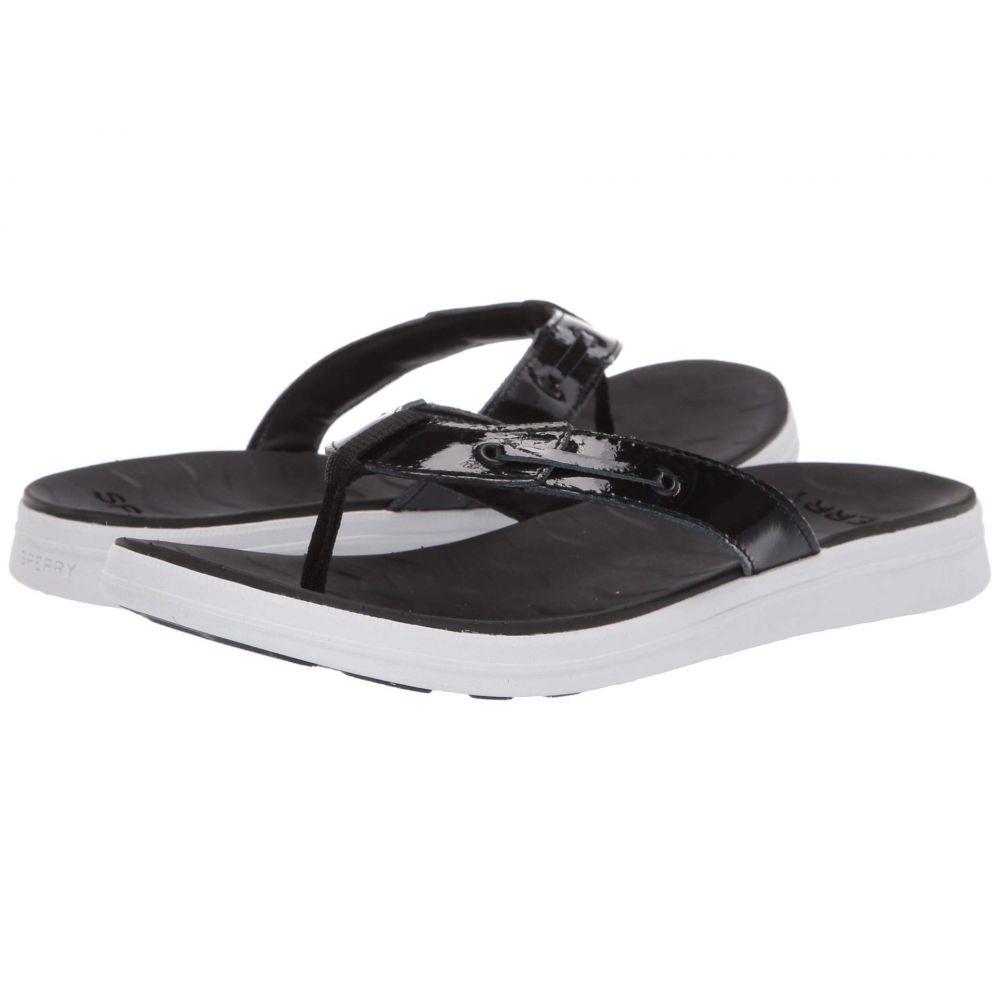 スペリー Sperry レディース ビーチサンダル シューズ・靴【Adriatic Thong Skip Lace Leather】Black