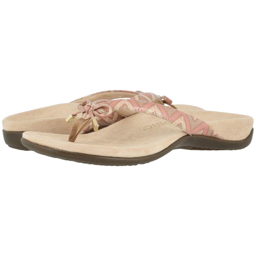 バイオニック VIONIC レディース ビーチサンダル シューズ・靴【Bella II】Dusty Pink Chevron