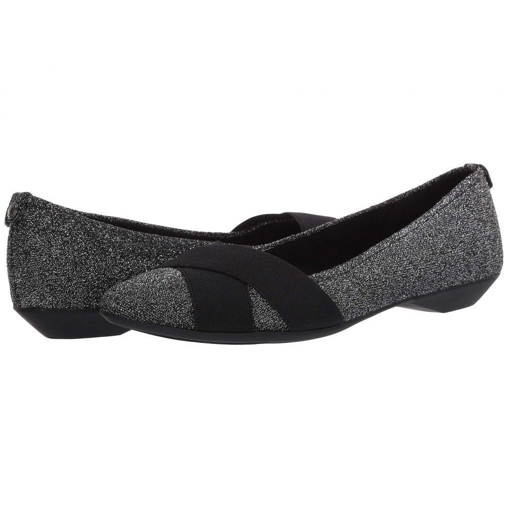アン クライン Anne Klein レディース スリッポン・フラット シューズ・靴【Sport Oalise】Black/Silver
