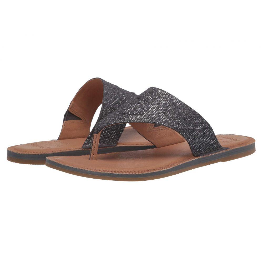 スペリー Sperry レディース ビーチサンダル シューズ・靴【Seaport Thong Leather】Silver Metallic