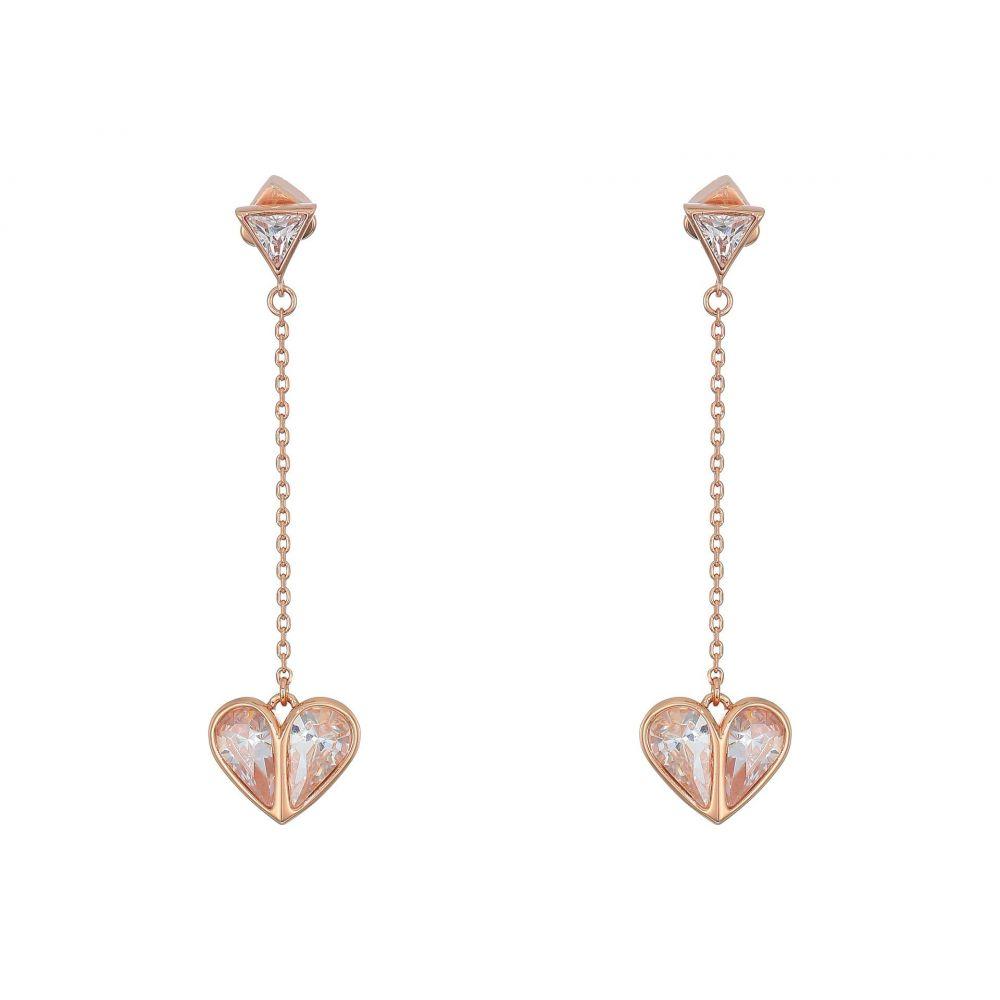 ケイト スペード Kate Spade New York レディース イヤリング・ピアス ドロップピアス ハート ジュエリー・アクセサリー【Rock Solid Stone Heart Drop Earrings】Clear/Rose Gold