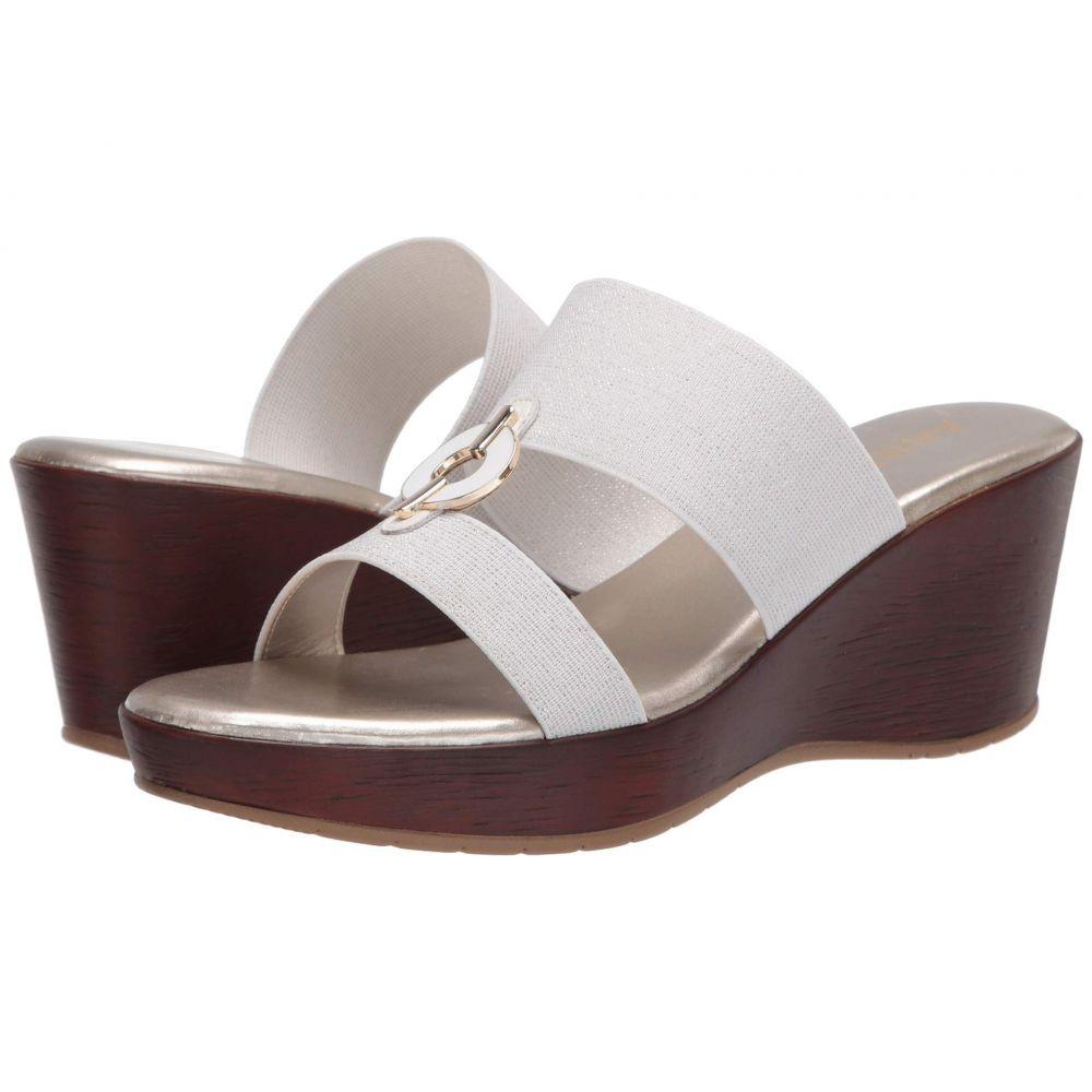 アン クライン Anne Klein レディース サンダル・ミュール ウェッジソール シューズ・靴【Hadya Wedge Sandal】White