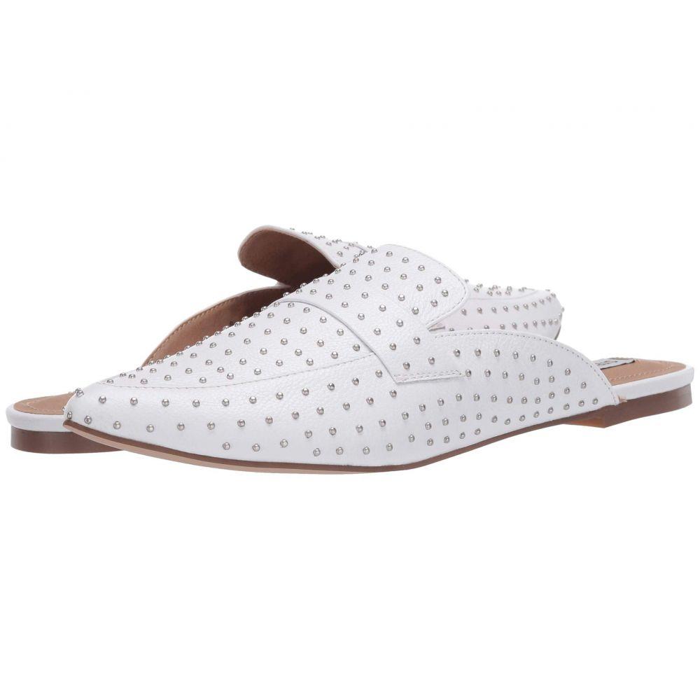 スティーブ マデン Steve Madden レディース ローファー・オックスフォード シューズ・靴【Flavor-S Flat Mule】White Leather