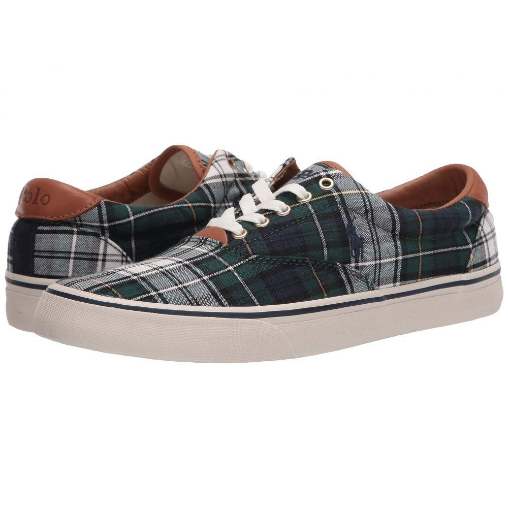 ラルフ ローレン Polo Ralph Lauren メンズ スニーカー シューズ・靴【Thorton】Green Cotton Tartan