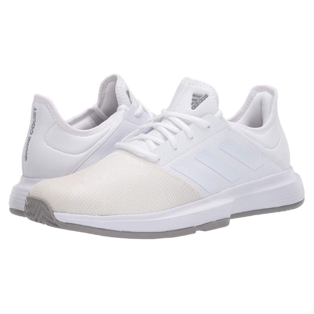 アディダス メンズ テニス シューズ・靴 Footwear White/Footwear White/Dove Grey 【サイズ交換無料】 アディダス adidas メンズ テニス シューズ・靴【GameCourt】Footwear White/Footwear White/Dove Grey