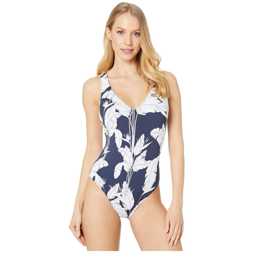 ロキシー Roxy レディース ワンピース 水着・ビーチウェア【Print Beach Classics One-Piece Swimsuit】Mood Indigo Flying Flowers