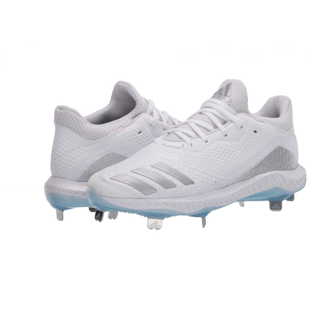 アディダス adidas レディース 野球 シューズ・靴【Icon V Bounce】Footwear White/Silver Metallic/Glow Blue
