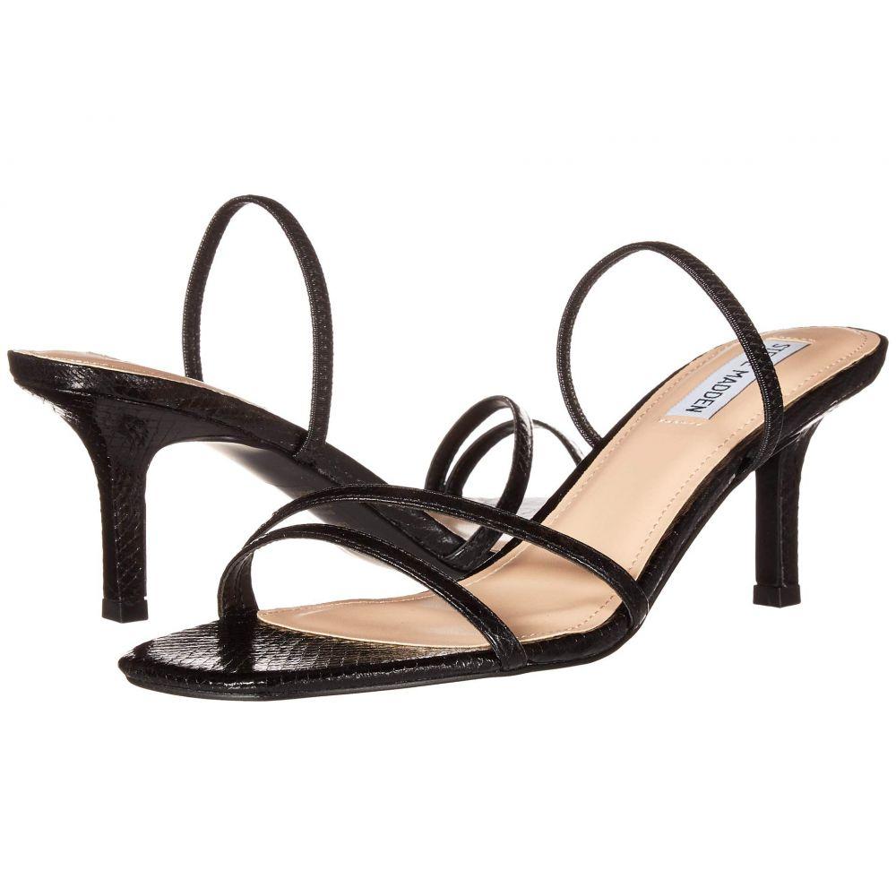 スティーブ マデン Steve Madden レディース サンダル・ミュール シューズ・靴【Loft Heeled Sandal】Black Snake