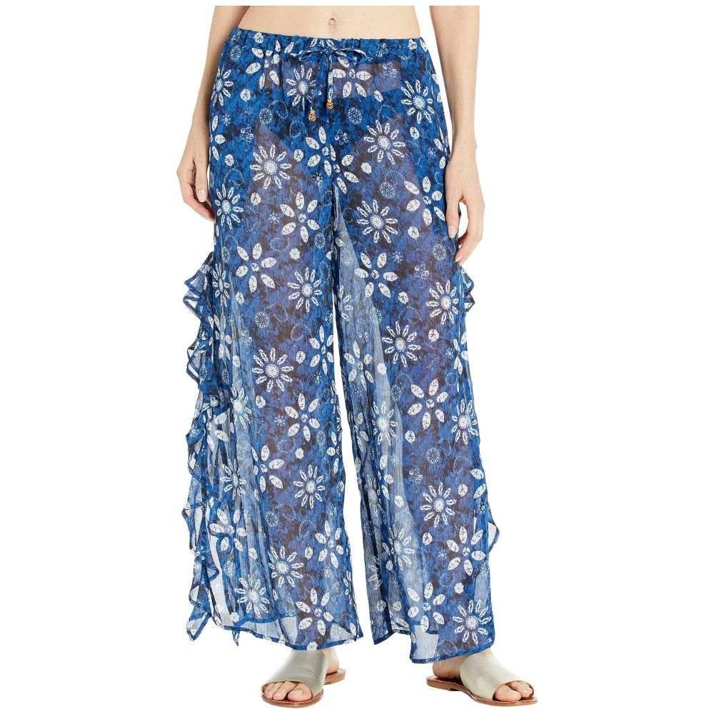 ブルー ロッド ビーティー Bleu Rod Beattie レディース ビーチウェア ボトムス・パンツ 水着・ビーチウェア【Take A Dip Slide Ruffle Slit Pants Cover-Up】Navy/Multi