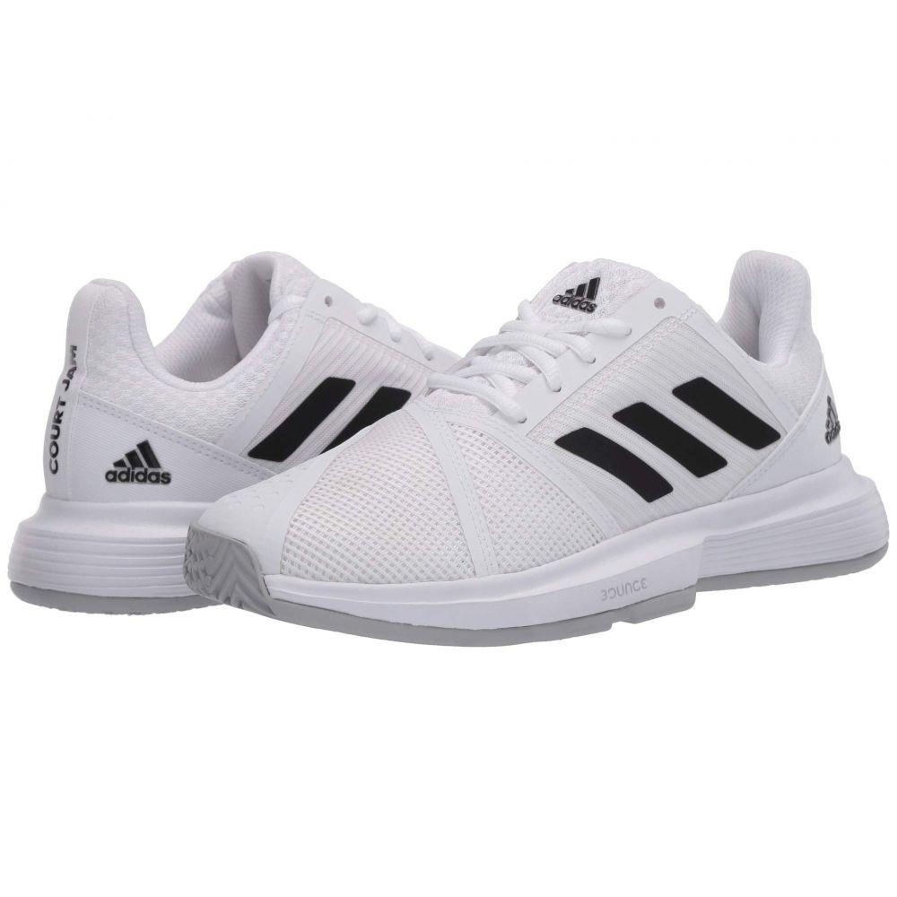 アディダス レディース テニス シューズ・靴 Footwear White/Core Black/Matte Silver 【サイズ交換無料】 アディダス adidas レディース テニス シューズ・靴【CourtJam Bounce】Footwear White/Core Black/Matte Silver