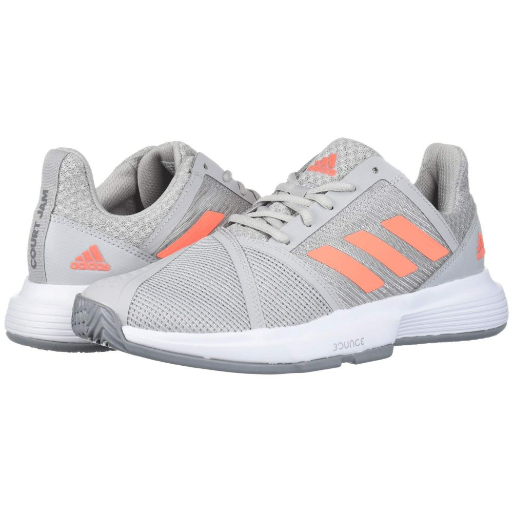 アディダス レディース テニス シューズ・靴 Grey Two/Signal Coral/Grey Three 【サイズ交換無料】 アディダス adidas レディース テニス シューズ・靴【CourtJam Bounce】Grey Two/Signal Coral/Grey Three