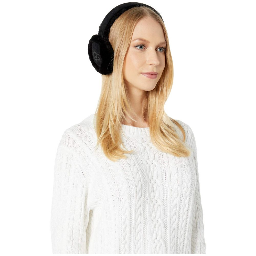 アグ UGG レディース ファッション小物 【Classic Sheepskin Non-Tech Earmuffs】Black